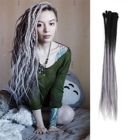 Ombre T2/38 Color Crochet Dreads Hair Synthetic Dreadlocks