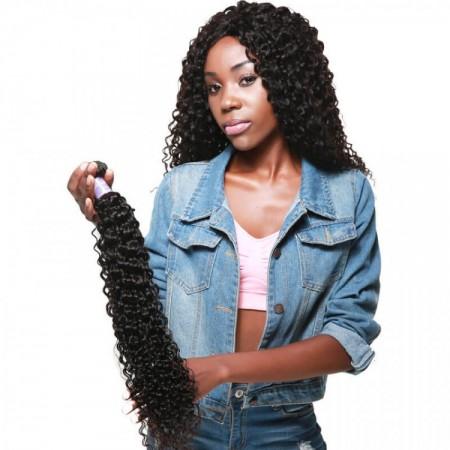 DSoar Hair Curly Human Hair Remy Hair 1 PCS Natural Black 8 Inch-26 Inch