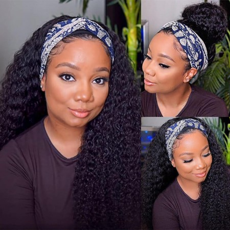 Curly headhand wigs