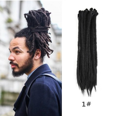 Dreadlock Extensions Crochet Synthetic Dreadlocks Black Color