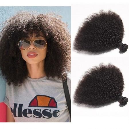 DSoar Hair Afro Kinky Curly Brazilian Virgin Hair 2 Bundles