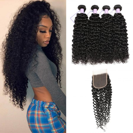 lace closure with bundles