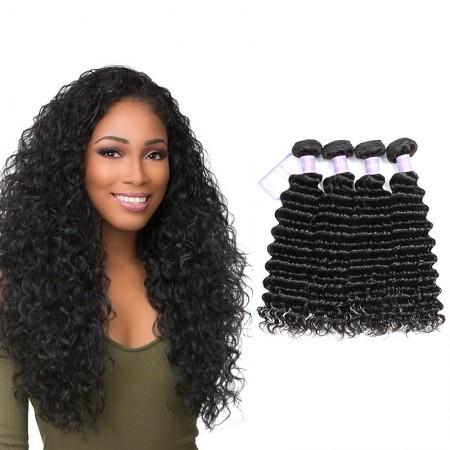 Malaysian Deep Wave 4 Bundles Virgin Human Hair