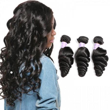 Malaysian Loose Wave Human Virgin Hair 3 Bundles