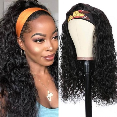 natural wave headhand wigs