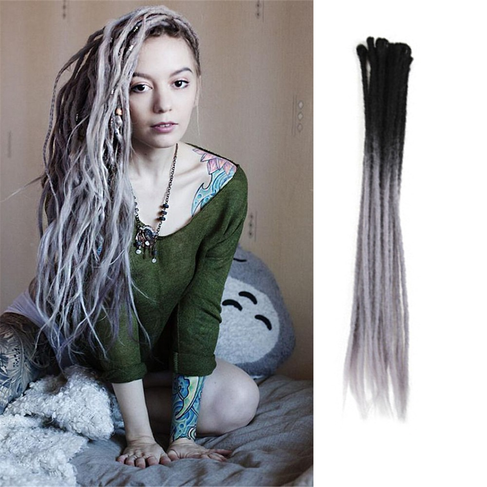 Dsoar T238 Color Crochet Dreads Hair Synthetic Dreadlocks