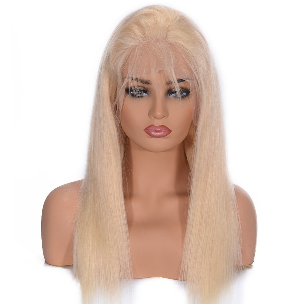 Dsoar Hair 613 Lace Front Wig Straight Blonde Human Hair