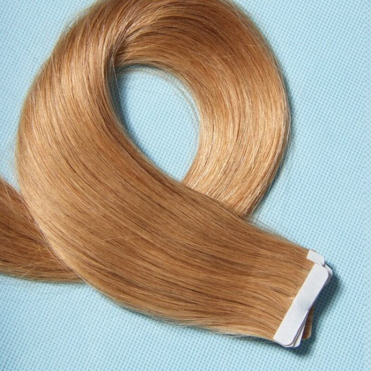 Peruvian Human Hair Skin Straight Weft Tape In Hair Extensions 50g