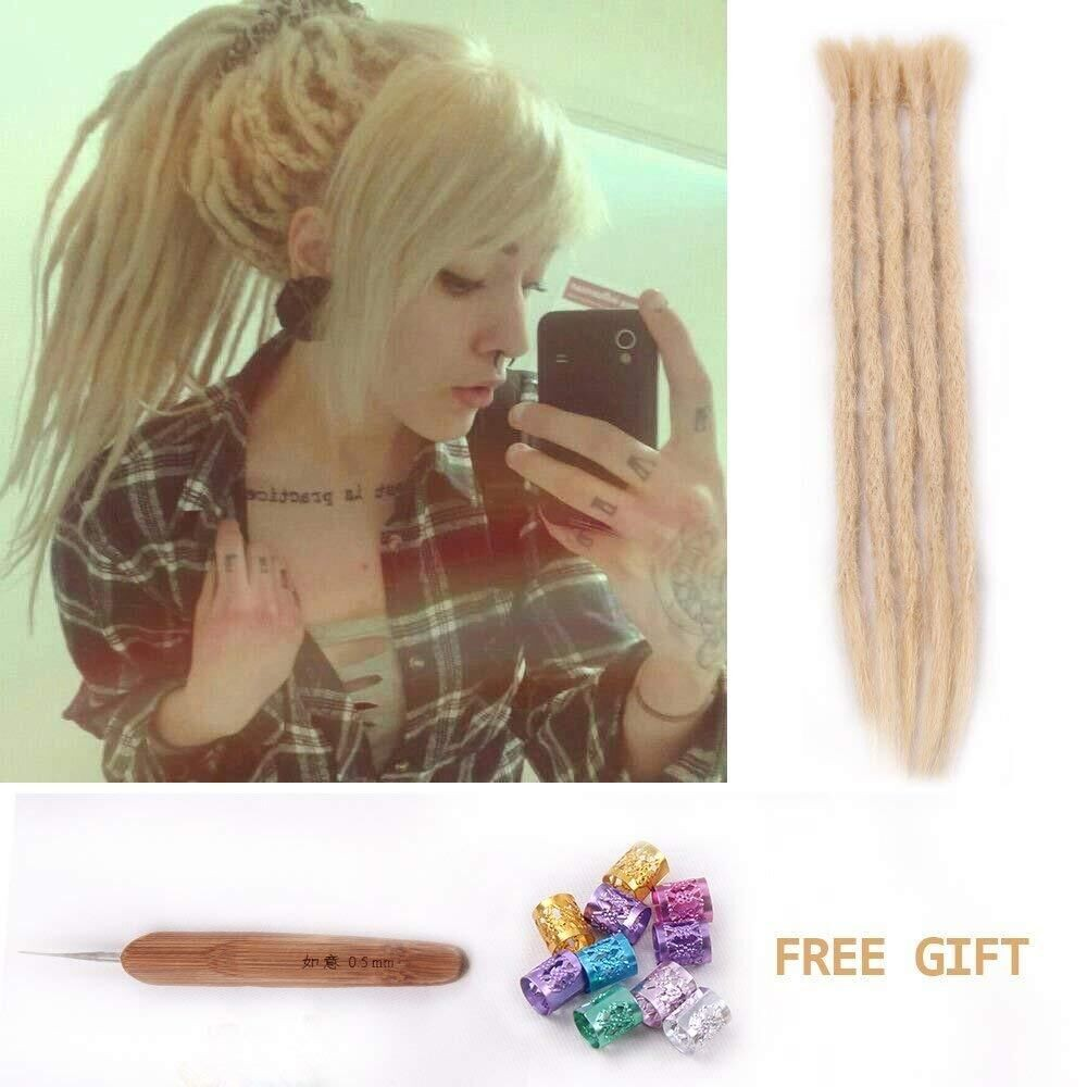 DSoar Long Dreadlocks 613 Blonde Dreads 30PCS Human Hair ...