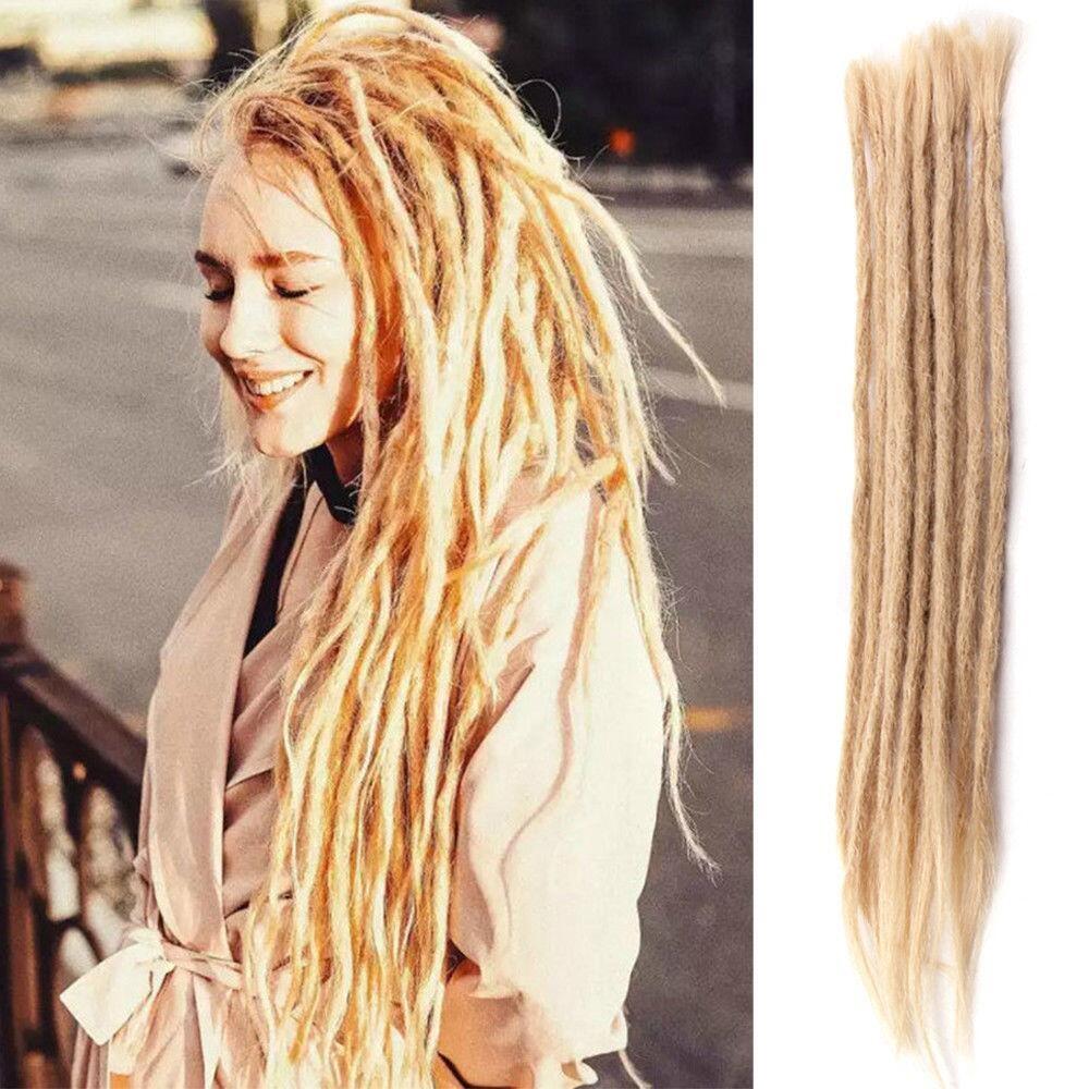 Dsoar 613 Blonde Dreads Human Hair Dreadlock Extensions Styles 20