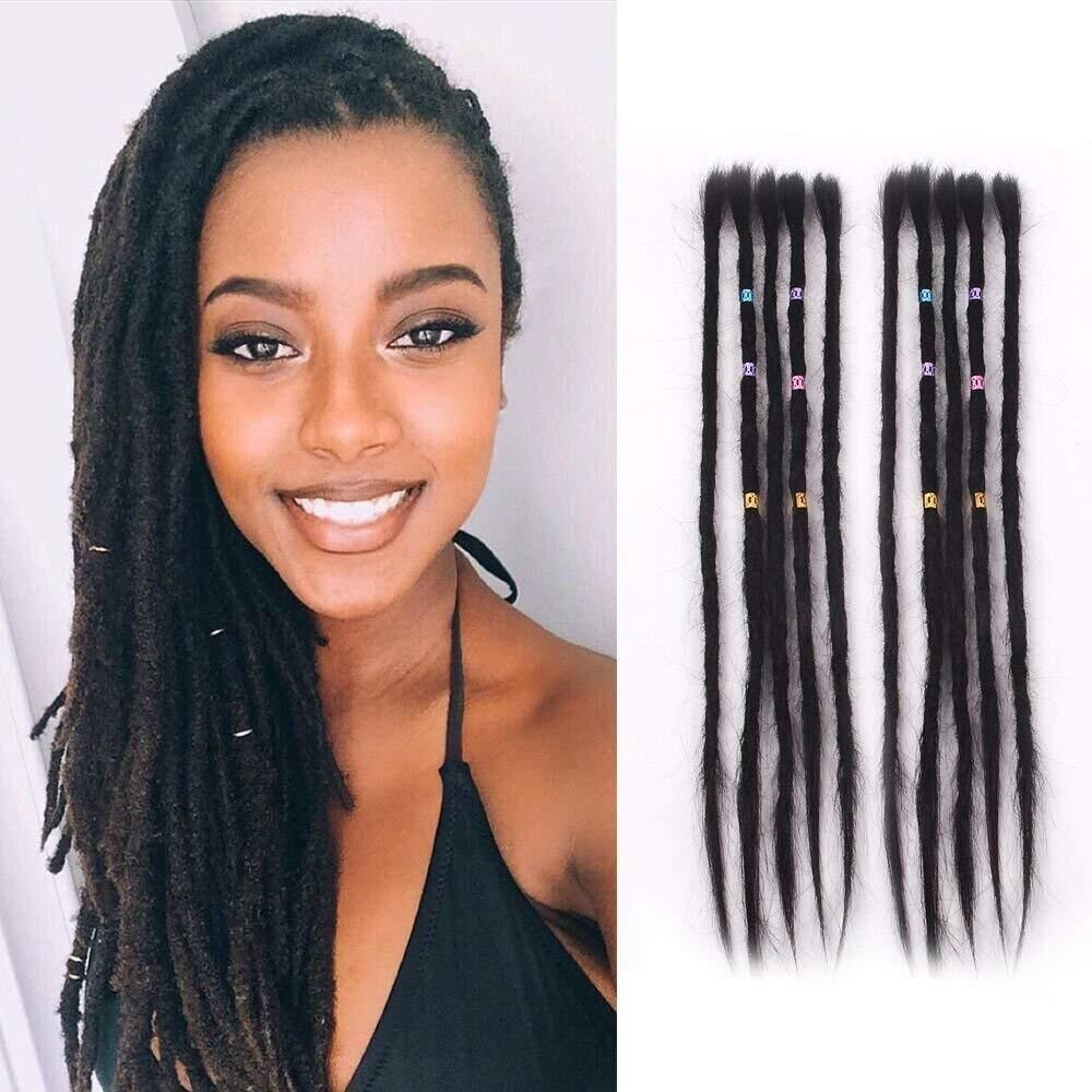 Dsoar Straight Hair Dreads Women Dreadlocks Extensions Human