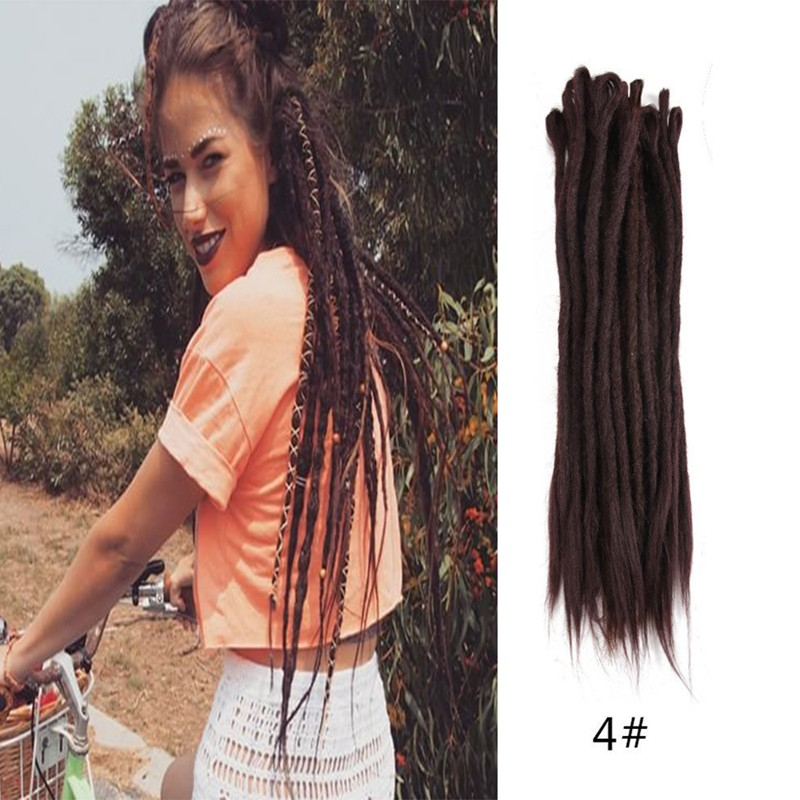 Dsoar Hair 4 Handmade Synthetic Dreadlocks Extensions Crochet