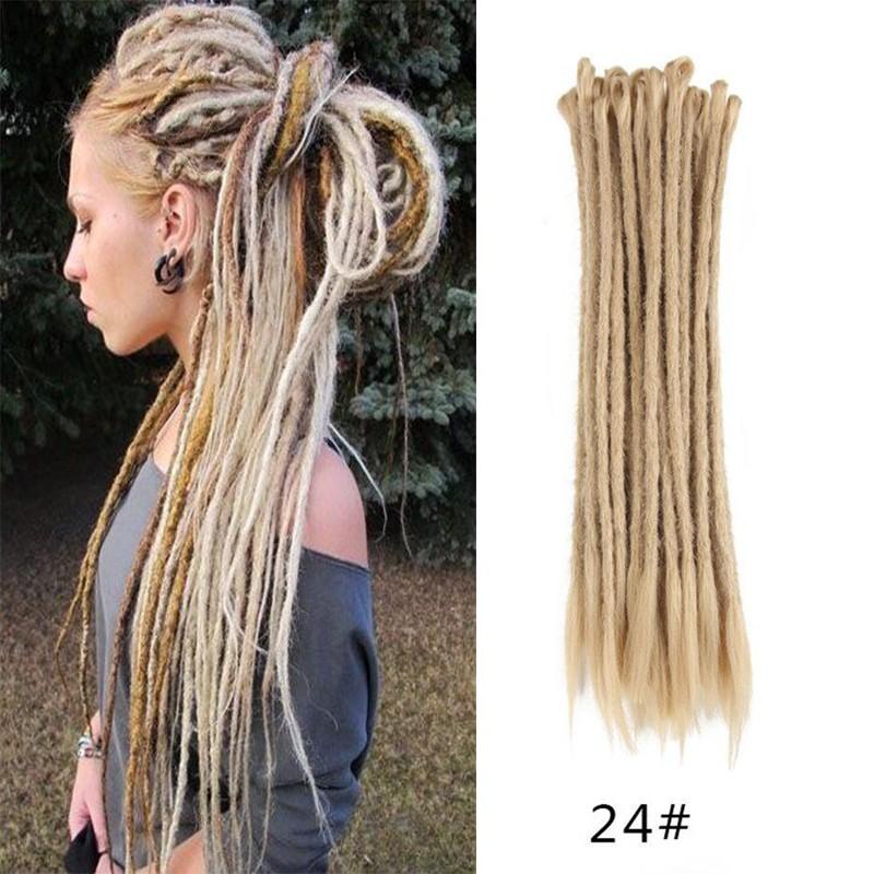 Dsoar 24 Sand Color Synthetic Dreadlocks Crochet Braids Dreads