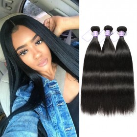 DSoar Hair Brazilian Human Virgin Hair Straight 3 Bundles