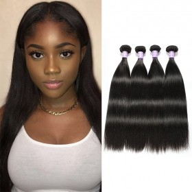 4 Bundles DSoar Hair Products Unprocessed Human Virgin Straight Hair