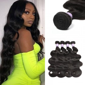 DSoar Hair Products Brazilian Body Wave Virgin Hair 4 Bundles
