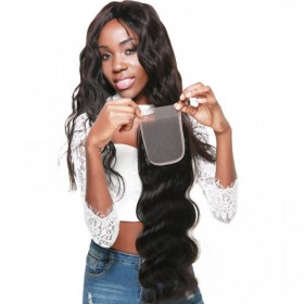 DSoar Hair Body Wave Hair Closure Three part Middle Part and Free Part