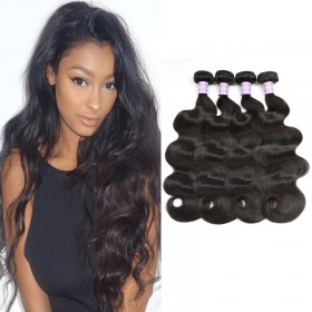 DSoar Hair 4Pcs/pack Peruvian Body Wave Virgin Human Hair