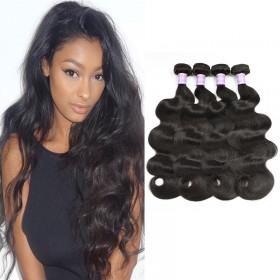 DSoar Hair 4Pcs/pack Peruvian Body Wave Virgin Human Hair