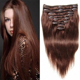 DSoar Hair Malaysian 100g Straight Clip In Human Hair Extensions