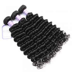 DSoar Hair Cheap Malaysian Hair Weaving 12-26 Inches 3pcs/Lot Deep Wave