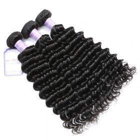 DSoar Hair Cheap Malaysian Hair Weaving 12-26 Inches 3pcs/Lot Deep Wave