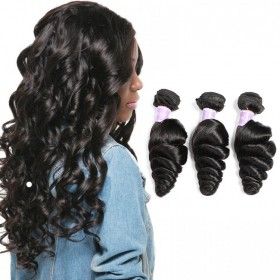 DSoar Hair Malaysian Loose Wave Human Virgin Hair 3 Bundles