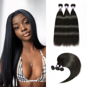 3 Bundles DSoar Hair Straight Malaysian Human Hair Weaving