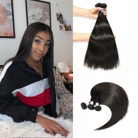 3pcs/pack DSoar Hair Peruvian Straight Human Virgin Hair