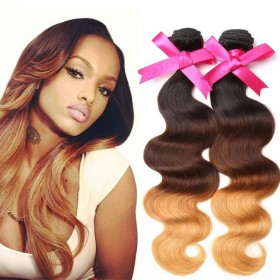 DSoar Hair 3 Bundles Ombre Body Wave Human Hair