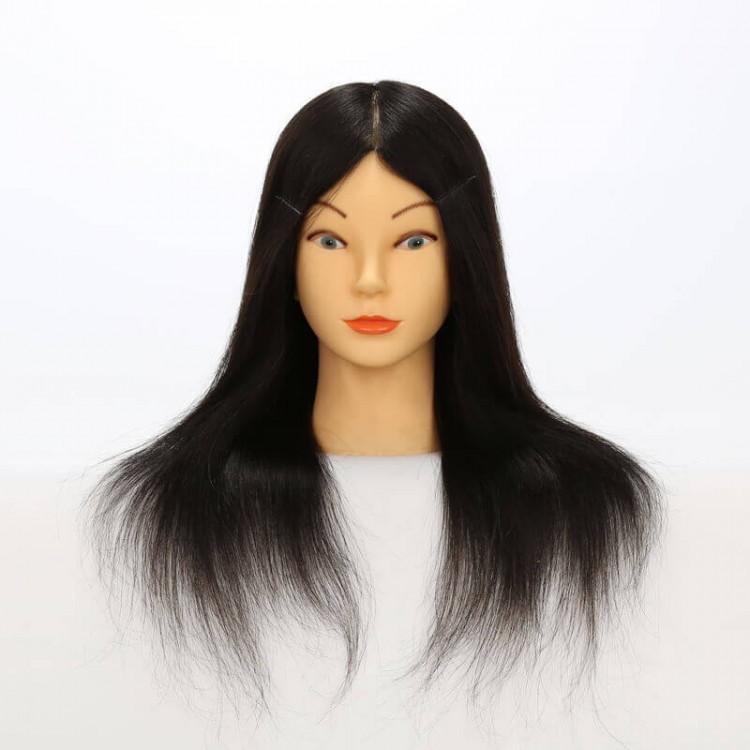 Real Human Hair Training Head Mannequin Practice Head Tool