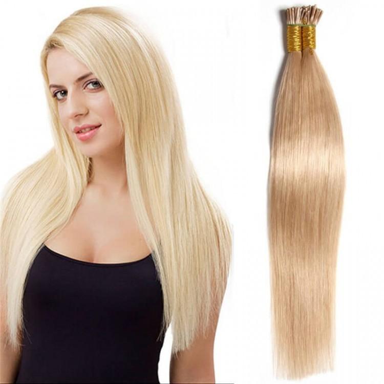 Malaysian 100g Straight Keratin I Tip Human Hair Extensions