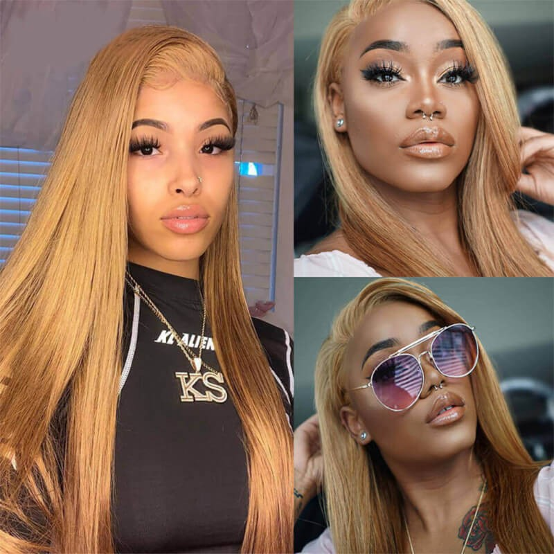 27# blonde lace front wig