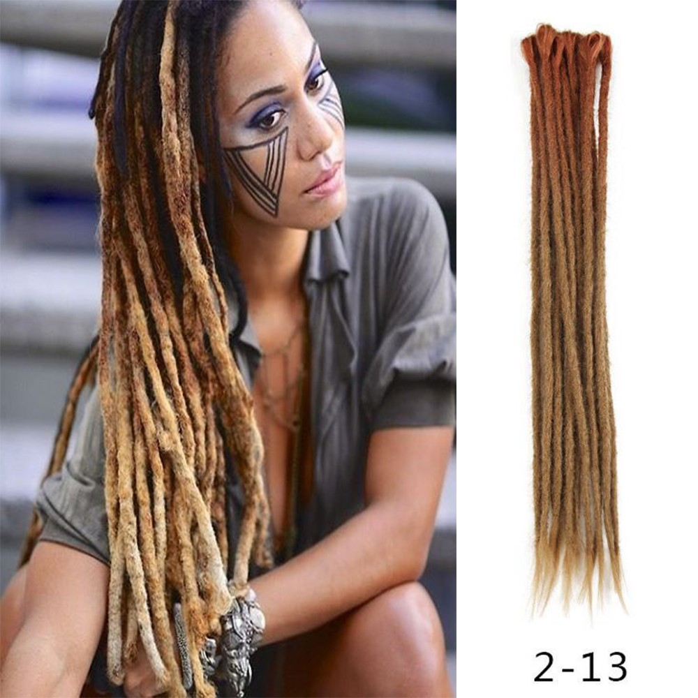 Dsoar Ombre Brown 2 13 Synthetic Dreadlocks Extensions Reggae Hair