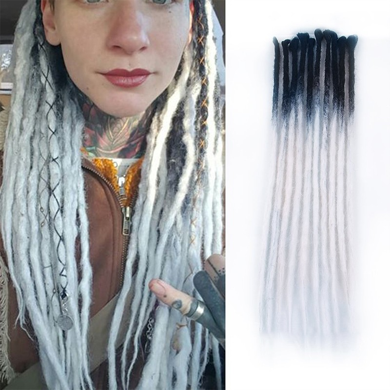 DSoar Hair Ombre Colore 2-25 Crochet Braids Dreadlock Extensions With Synthetic Hair 24Inch