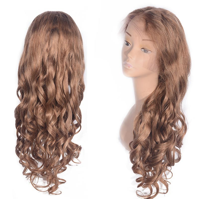 DSoar Hair Loose Body Blonde Lace Front Human Hair Wigs 27#