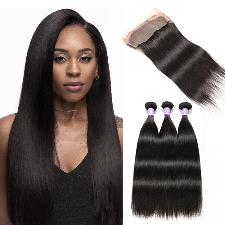 360 lace frontal and 3 bundles