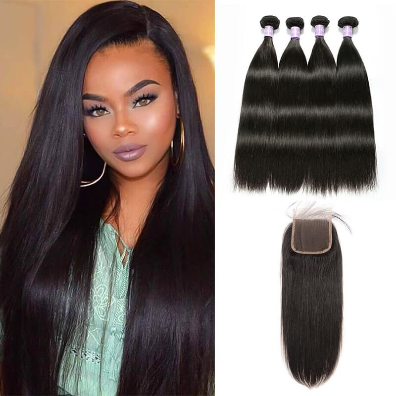 4 Bundles With Lace