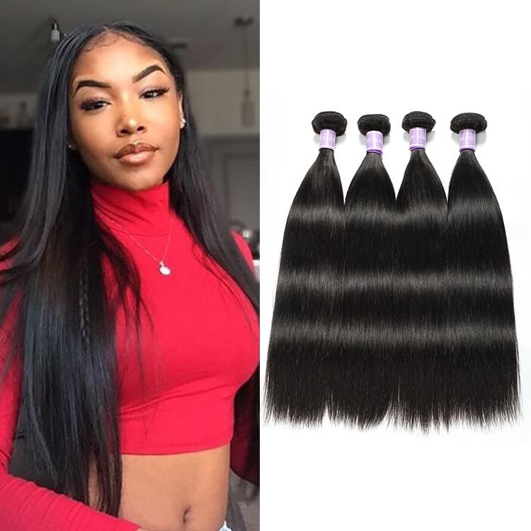 4 Bundles DSoar Hair Malaysian Virgin Straight Hair Weaves