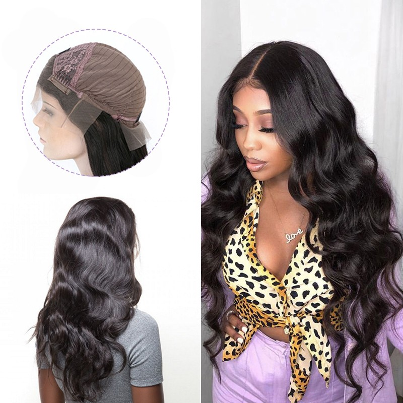 Dsoarhair Body Wave Hand Tied 13x4 Lace Front Wig with Baby Hair Human Hair
