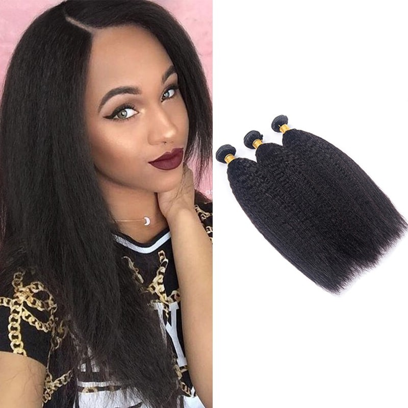 Best Brazilian Kinky Straight Hair 3 Bundles DSoar Virgin Hair Weave