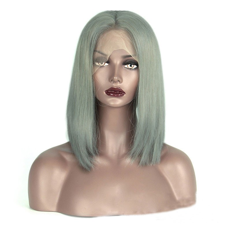 Blunt Cut Middle Part Lace Front Bob Wig