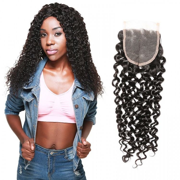 curly weave closure piece
