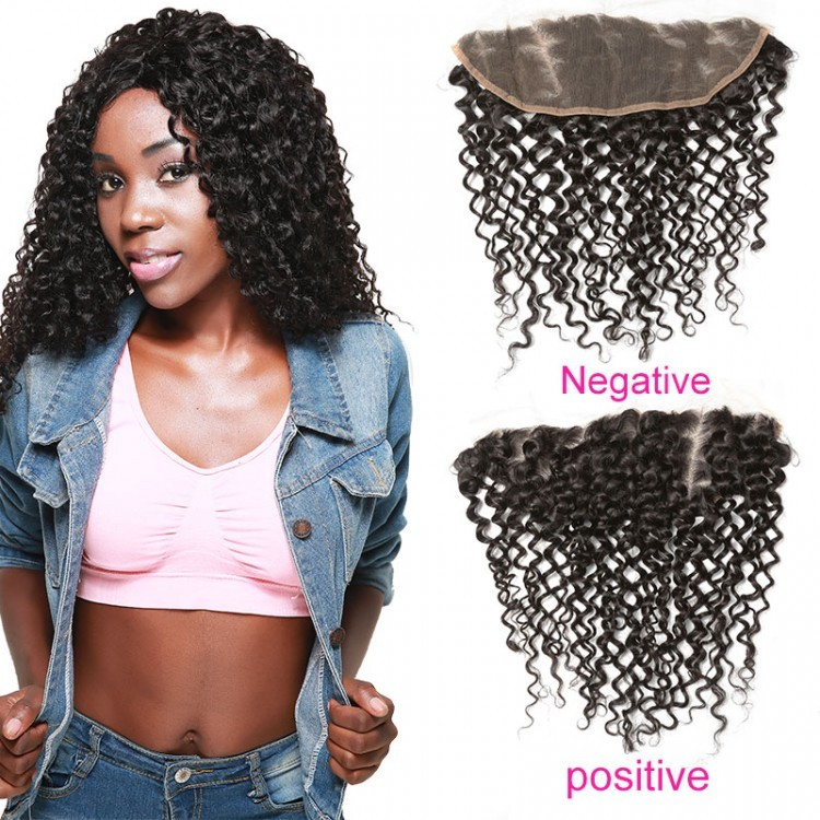 DSoar Hair 4*13 inch Curly Hair Lace Frontal Closure 100% human virgin hair