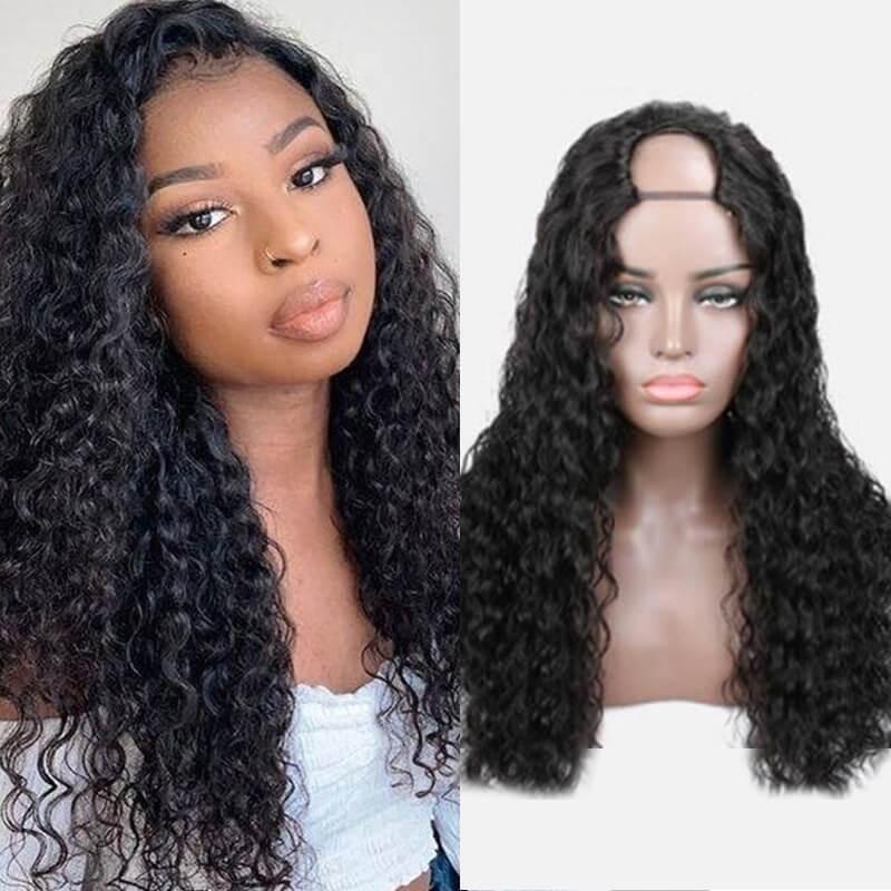Dsoar Hair Upgrade Curly U Part Wig Mid/L/R Part 100% Virgin Human Hair Wig