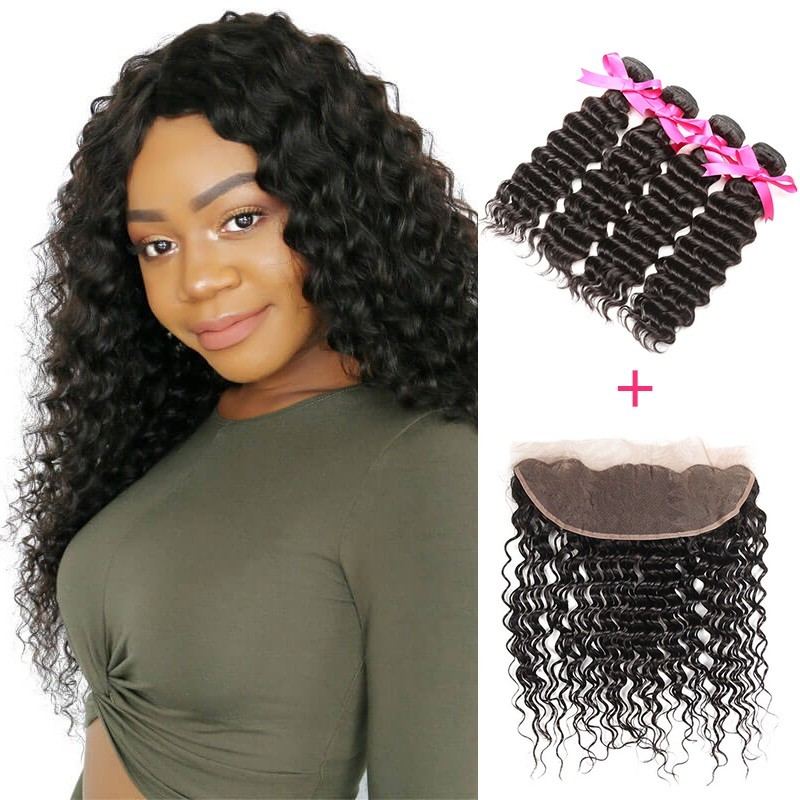 deep wave 4 bundles with frontal