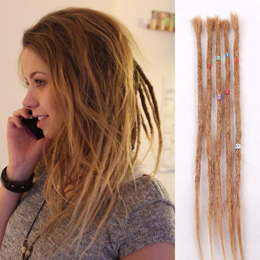 Real Human Hair Dreadlock Extensionspermanent Human Hair Dread