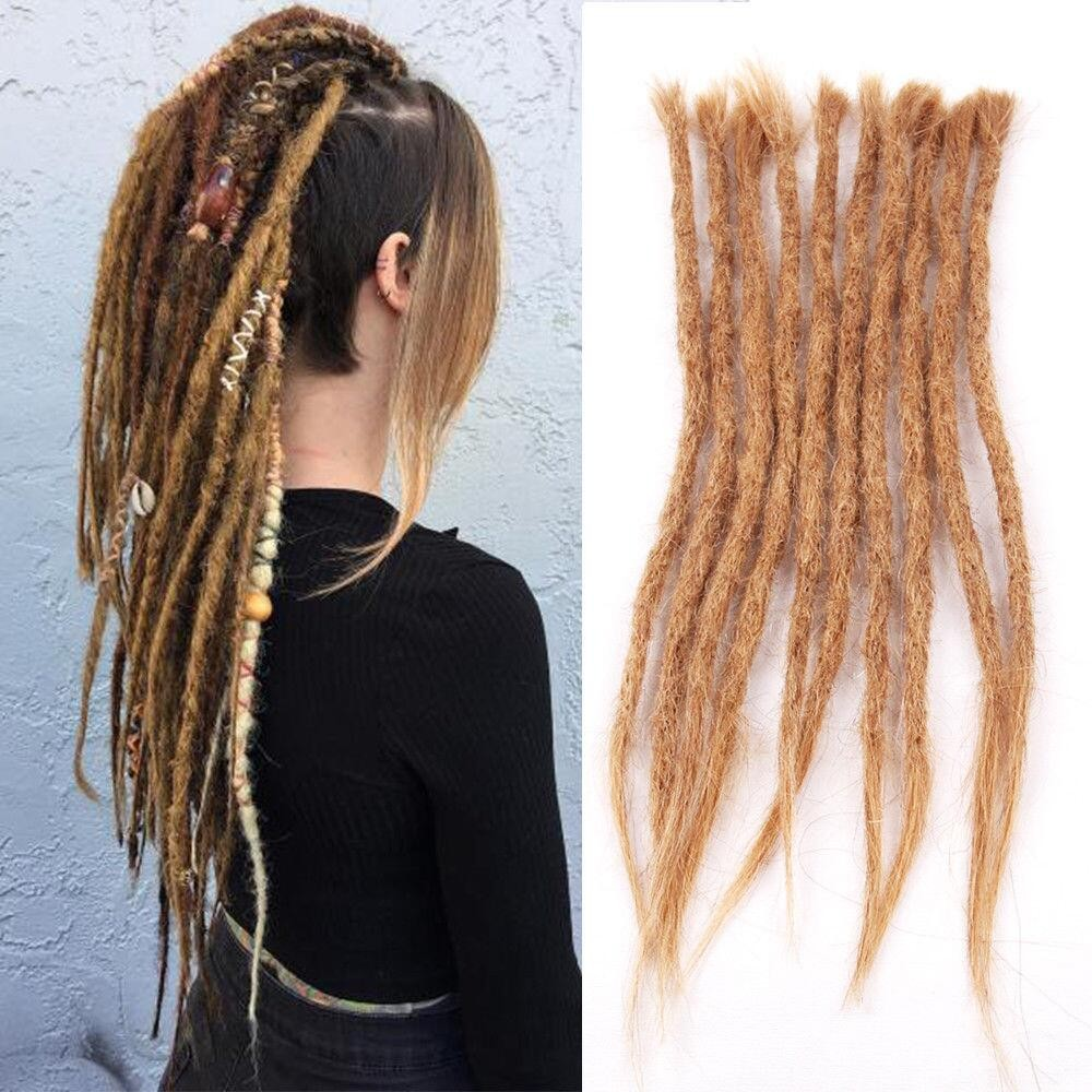 Dreadlock Extensions 27 Light Brown Dyed Dreads