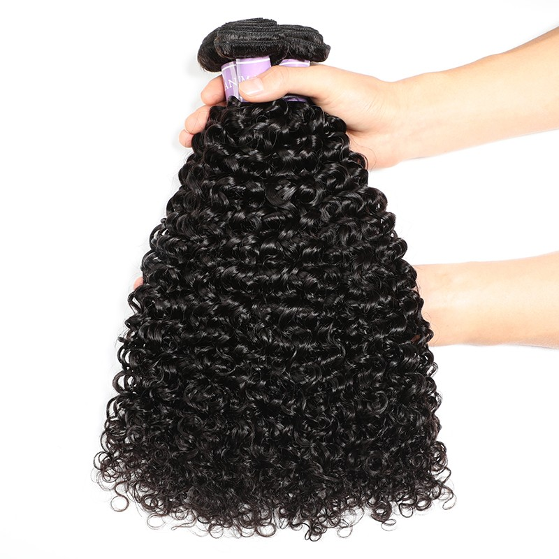 Malaysian curly virgin hair 3 bundles natural black remy hair weave