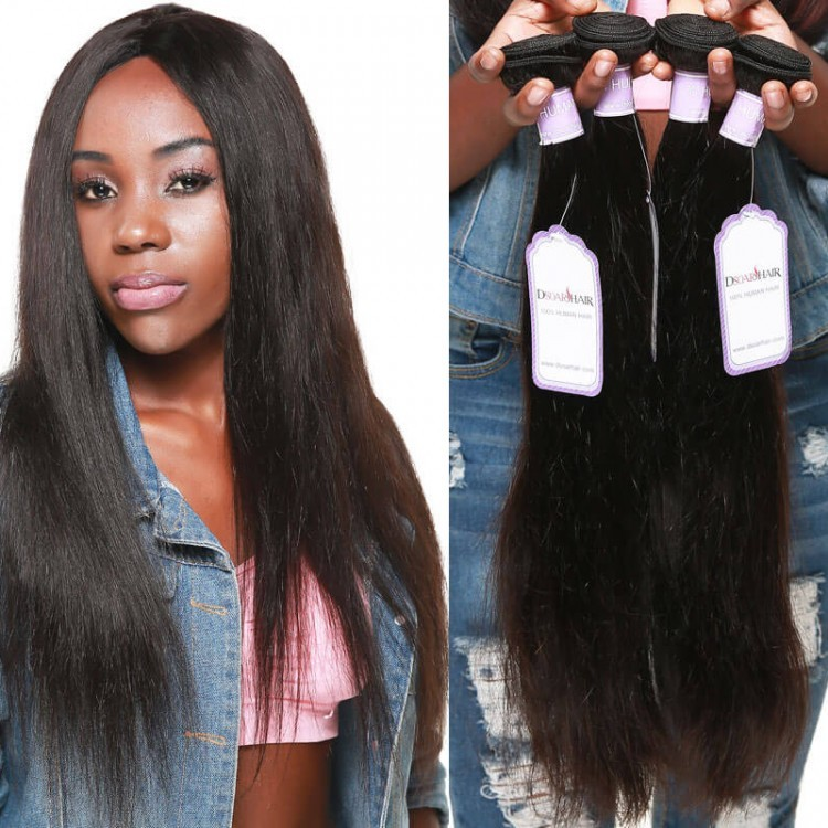 Newest Cheap Human Hair Weave Brazilian Straight Hair In Stock Free